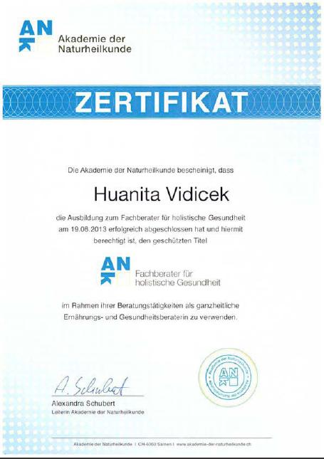 Zertifikat Fachberater für holistische Gesundheit